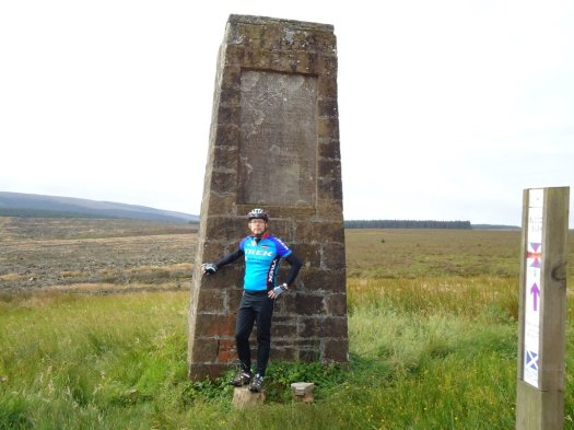 At the England / Scotland border monument