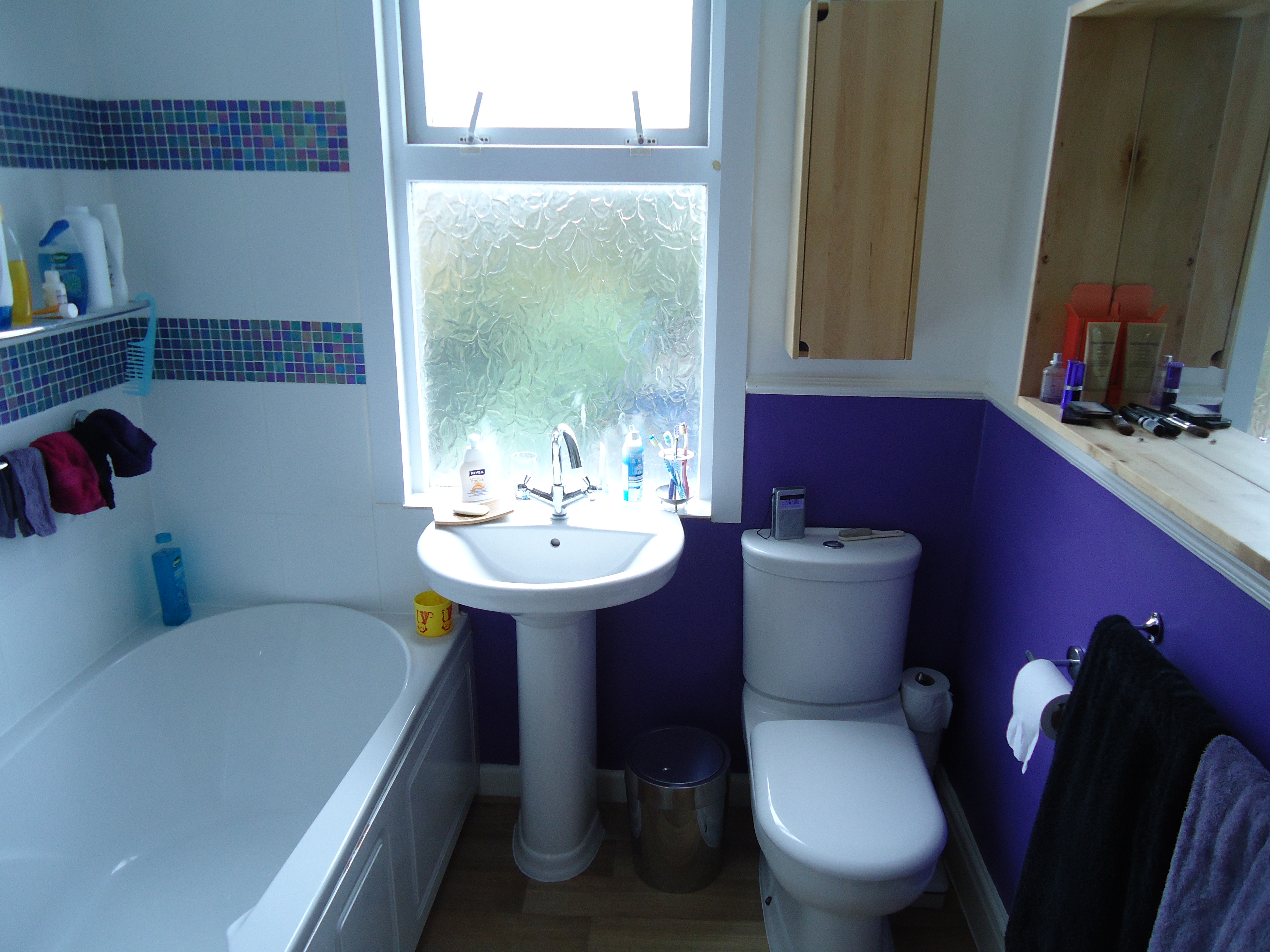 It Is A Very Small Bathroom And We Kept The Arrangement Of The Bath Basin And Toilet As There Was Little Choice To Be Honest There Was An Existing Big