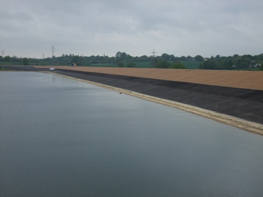 The raised and protected main dam