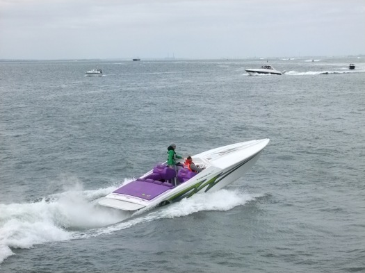 One of the speedy support boats