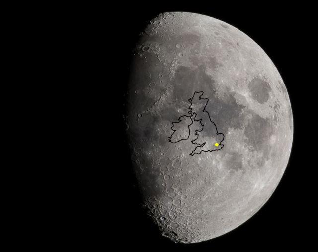 Moon size illustration